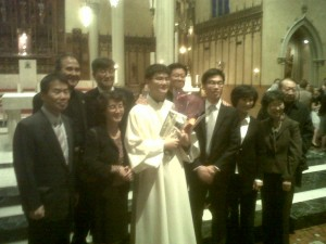 Fr. John Lee on his ordination day, May 21, 2011